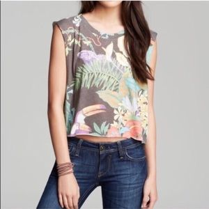 wildfox jungle party muscle tank